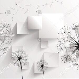 Черное дерево на белом фоне и белое дерево на черном фоне