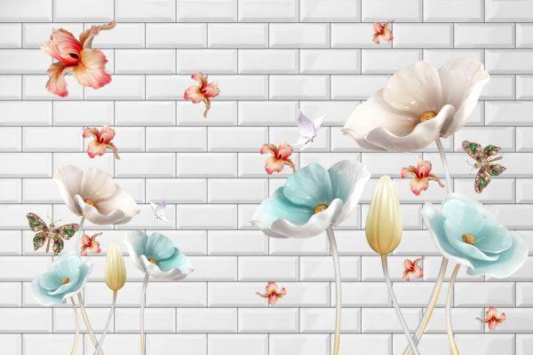 стена с бабочками