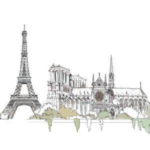 Башня эйфелева графика