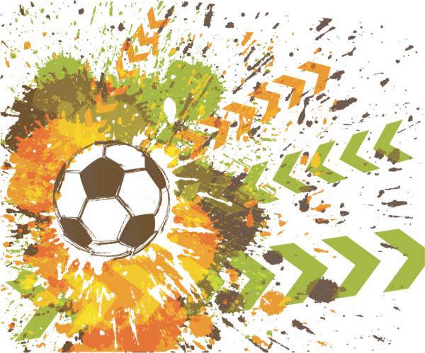 футбольный мяч постер