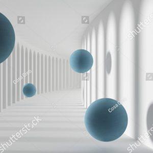 3д синие шары