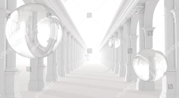 3д прозрачные шары