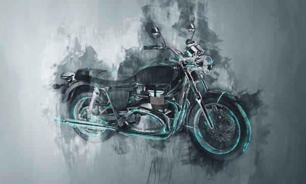 Мотоцикл нарисованный