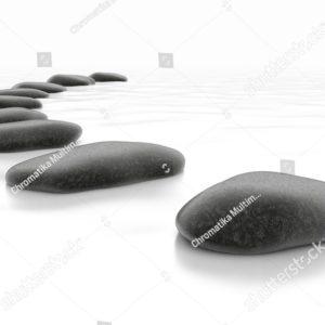 камни на белом фоне