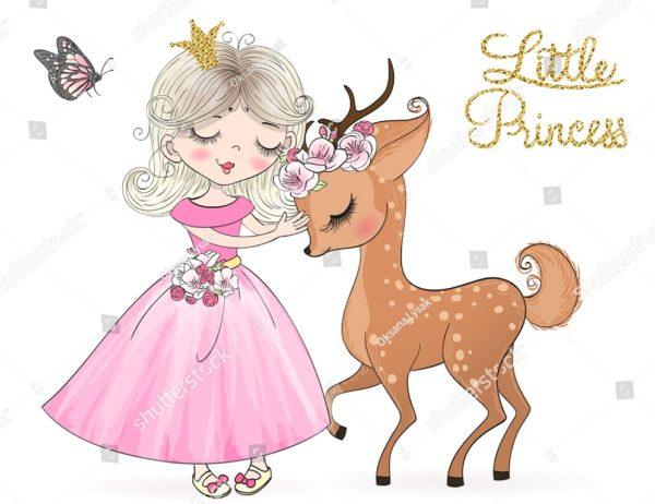 Принцесса с оленем