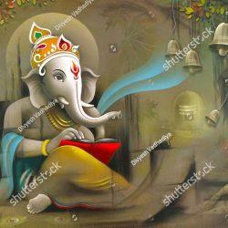 stock-photo-hindu-lord-ganesha-texture-wallpaper-background-1441577849