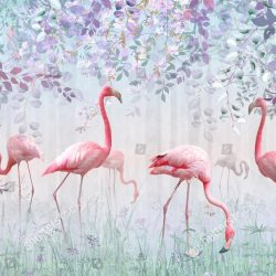 stock-photo-pink-flamingos-in-a-delicate-garden-in-a-turquoise-mist-mural-and-wallpapers-for-interior-printing-1434507278