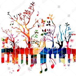 stock-vector-colorful-piano-keyboard-with-trees-and-music-notes-music-instrument-background-vector-illustration-587127014